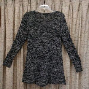 Eileen Fisher Silk Twist V-Neck Tunic Sweater